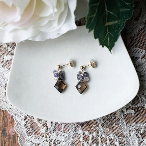 [New] earrings & earrings modulo [Iolite]