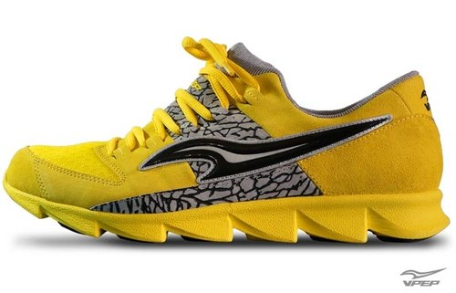 VPEP men and casual shoes / yellow with gray and black / classic zigzag shoes, limited edition print, architecture-specific, Cut complex, high quality