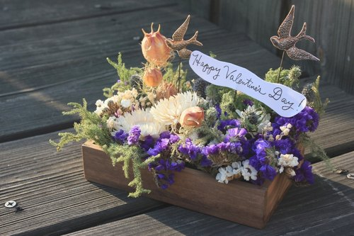 Secret Garden wooden dried flower ceremony _ _ Customizable
