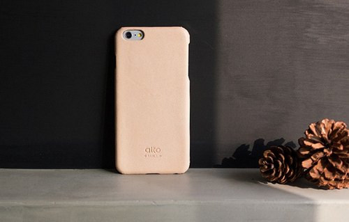 Alto iPhone 6 Plus / 6S Plus leather case back cover, Original - original leather color [can be carved mine carving text, need to purchase] leather protective case Leather Case