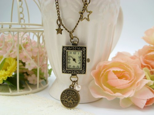 Constellation Vintage pocket watch necklace custom-made jewelry