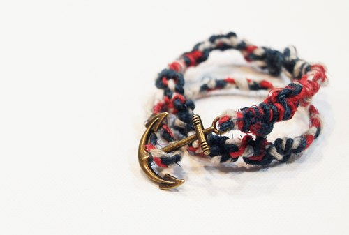 Fair Trade hand twisting - double ring anchor (customized)