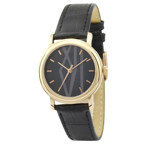 Ladies Rose Gold Watch Big Roman