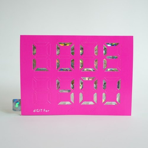 "Christmas New Year gift exchange / ""DIY stamp Day"" Digit Card / Card Digital Laser colorful crystal diamond powder version _"