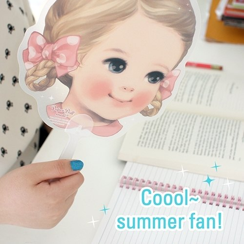 [2014] Korea Afrocat New paper doll mate coool summer fan summer cool fan cute doll