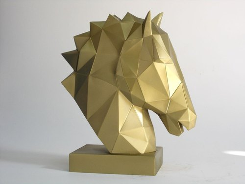 [Tau Kok towering (horse decoration) - Gold]......... Father's Day home decorations birthday gift wedding souvenirs tourism moving new office to send foreigners to send the boss