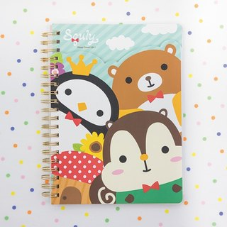 Double Cover Notebook (Big Heads / Forest Theme) (D005SQS)