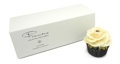 【Felicitas Pâtissérie】 Banana _ Rose Cupcakes 3 into * 2 Group