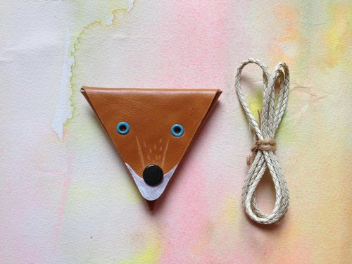 The Little Prince fox * necklace handmade leather purse _