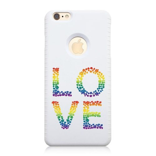 iPhone 6 / 6S [Comrade Rainbow Bridge series, LOVE] Christmas 3D three-dimensional relief Print + Easy Card Phone Case