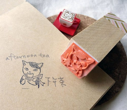Stamp - tea cat PDA chapter