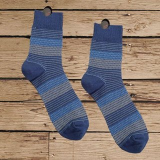 Lin Guoli granule color sense socks cobalt blue