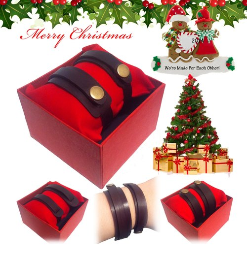 [LEDERT] Christmas | exchange gifts | handmade leather bracelet | Couple bracelet | Lucky bracelet | bracelet Confessions