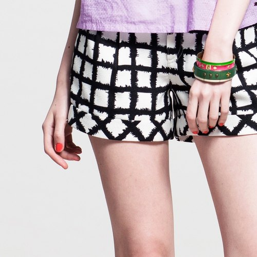 Low-waist shorts fold - checkered NOVI