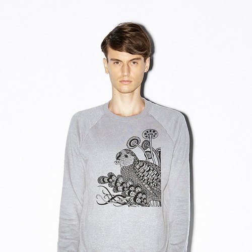 Kakapo of night (long-sleeved / gray)