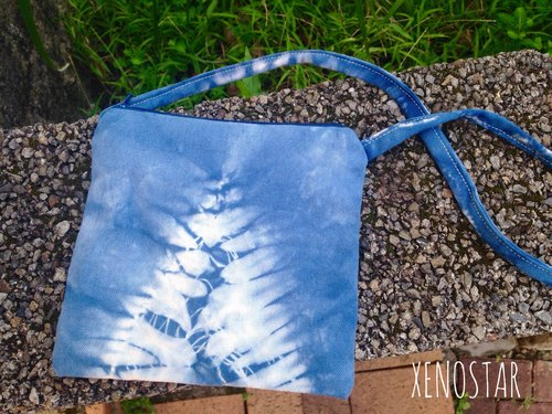 Hand tie dyed tie-dyed cotton dorsal Small Things bags