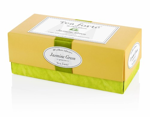 Honey Peach Tree Tea Forte tea Ribbon Box - Green Mango Peach