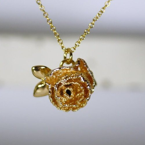 [* Charlene ‧ gold jewelry] really Lace Rose Necklace - copper / gold