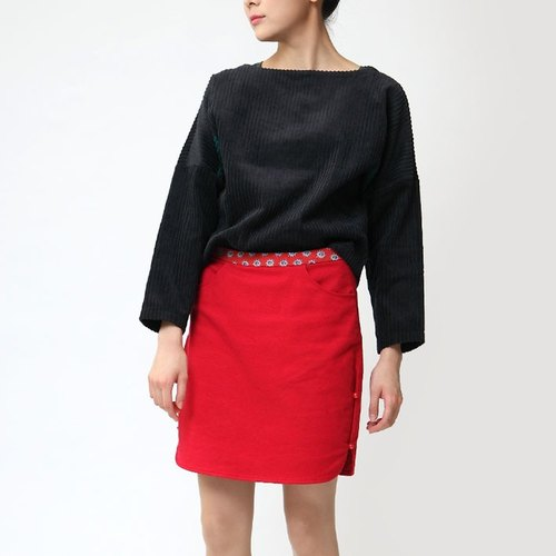 BUFU cotton skirt (2 ways to wear)   SK141003