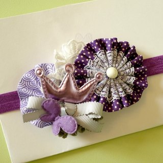 Purple ribbon lace cloth Children