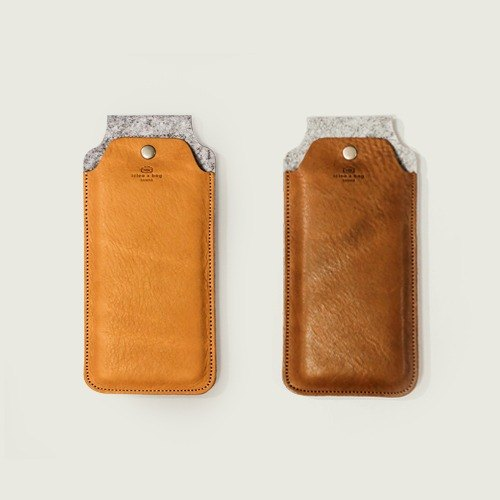 Ideas bag [icleaXbag]Genuine Leather iphone 6 4.7-inch mobile phone sets Light brown / coffee