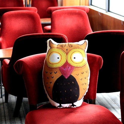 Pillow | tulip owl