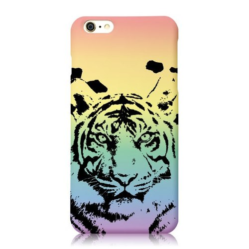 iPhone 6 / 6S [Comrade Rainbow Bridge Series, the Tigers] Christmas 3D three-dimensional relief Print + Easy Card Phone Case