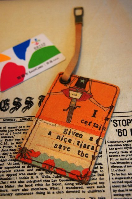 Handmade leather travel card sets ~ I can fly