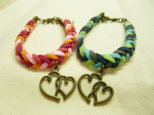 Nadia ♥ love hand-made four braid soulmate couple bracelet valentines variety of love