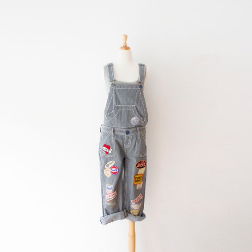 Banana cat. Banana Cats patch vintage striped suspenders