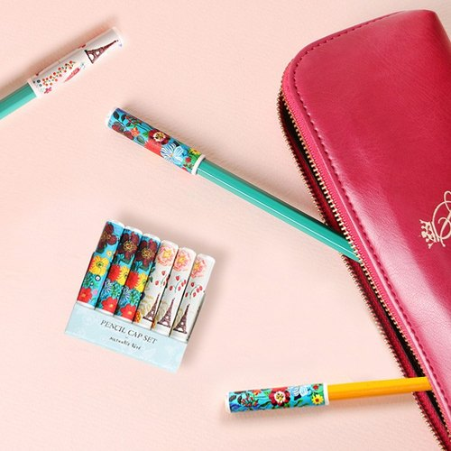 7321Desgin-Nathalie Lete Pencil Extender Pen Cover Set (6 In) - Paris Tower, 7321-02562