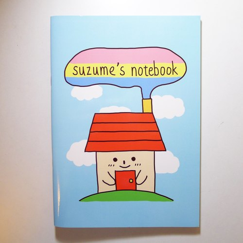 Notebook → red small house