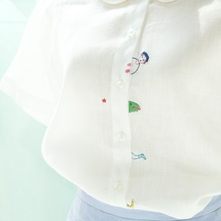 HIDE AND SEEK - Linen White Shirt