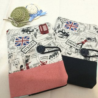 NO.27&28-British style - red black / / 27 & 28 travel passport sets / universal bags (two into a group)