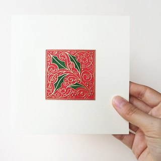 ❄ Christmas Card- Gold Stamping & 100% Cotton Paper