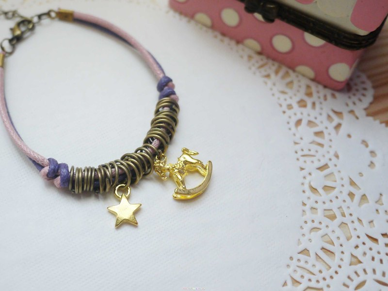 "Paris. Handmade happiness. ZAKKA bracelet. ""Holding happy."" Purple World"