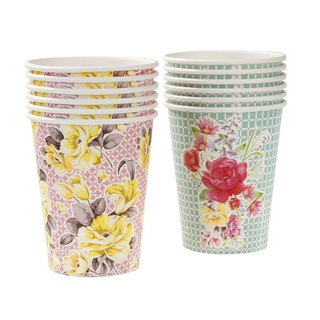 """Wonderful taste § cups"" Britain Talking Tables Party Supplies"