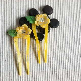 [MITHX] color of Something New, U-shaped hairpin, hairpin, hair plug - yellow