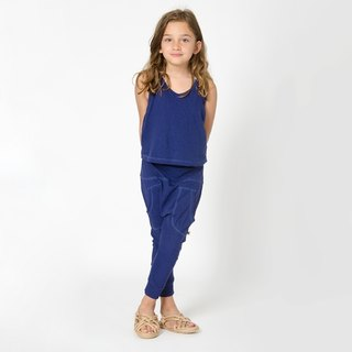 [Nordic children's clothing] Swedish organic cotton pants blue