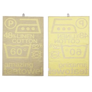 Jansen + co kitchen towel - symbol yellow