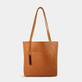 Influxx S1T1 - Basic Leather Tote - Autumn Orange