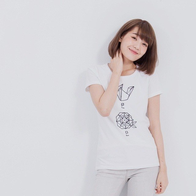 Little Prince Peach Cotton Woman Tee White