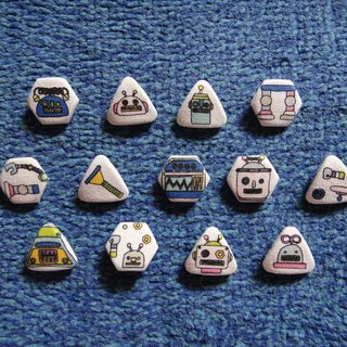 (C) robot people _ cloth button badge HTDVY52