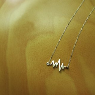 Mittag【NL417】heartbeat heartbeat necklace designer handmade silver necklace with brand wood jewelry box...