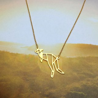 Kangaroo, Origami Necklace, Animal Necklace, Animal lover, Animal gifts