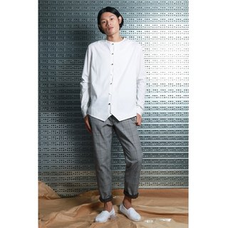 Lu - Simple Chinese style shirt (white)