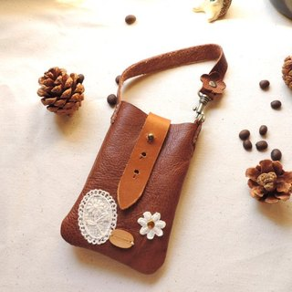 Cell phone pocket - brown (Special)
