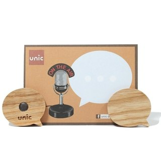Unic natural log modeling magnet (circular dialog box) + boutique gift card