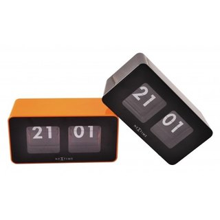 NeXtime - Flip Table Wall Clock - Orange