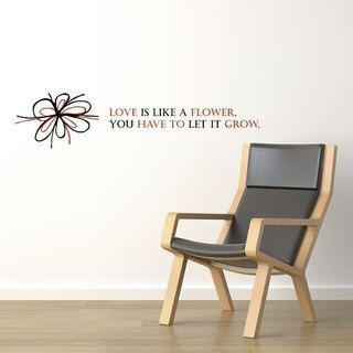/ Flower Love / Wall Sticker / ECO-Material